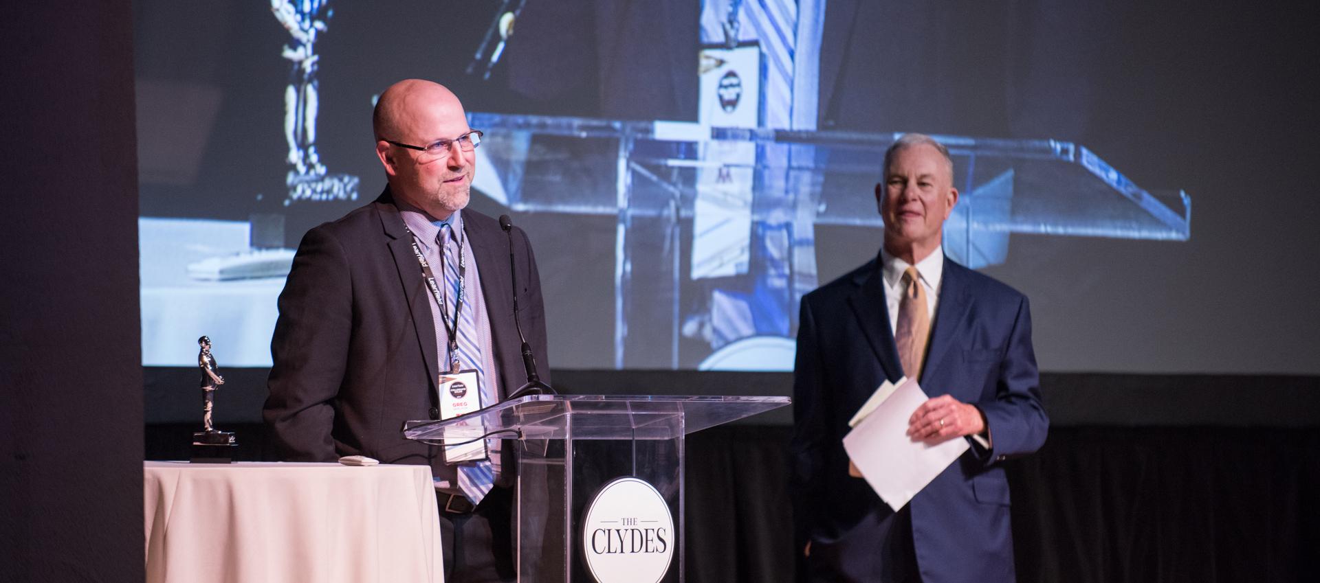 Gerlach winning Clyde character award